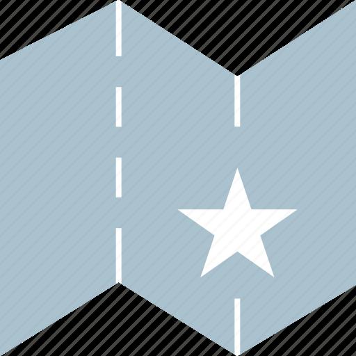 location, save, star icon