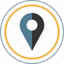 find, location, map, pin icon