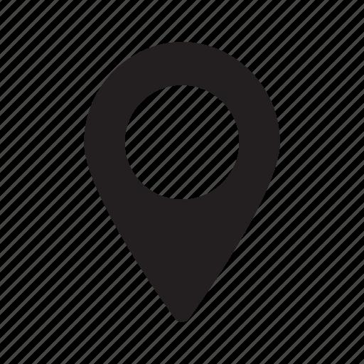 dot, indicator, large, location, map, navigation icon