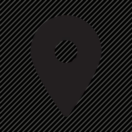 indicator, location, map, navigation icon
