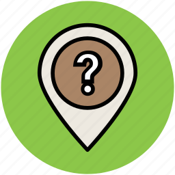 location marker, location not found, location pointer, unknown location, unknown place icon