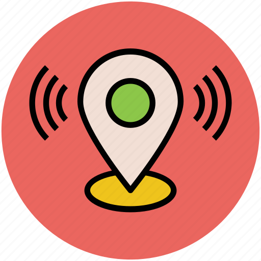 location marker, location pointer, locator with wifi, wifi found, wifi location, wifi signals icon