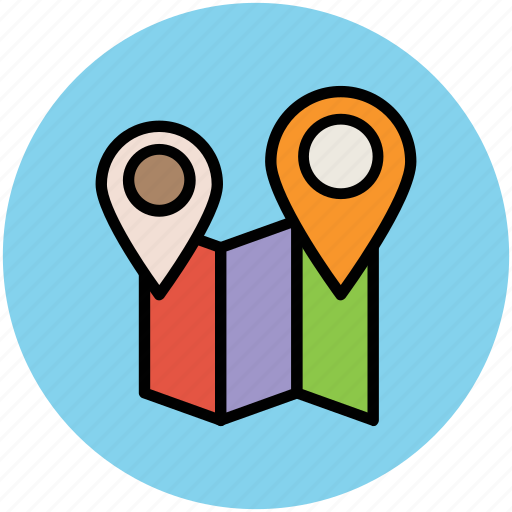 gps, location pointers, locator, map, map pointers, placeholders icon