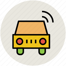 automobile, car, transport, vehicle, wifi signals icon