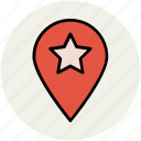 favorite location, favorite place, location marker, location pin, location pointer icon