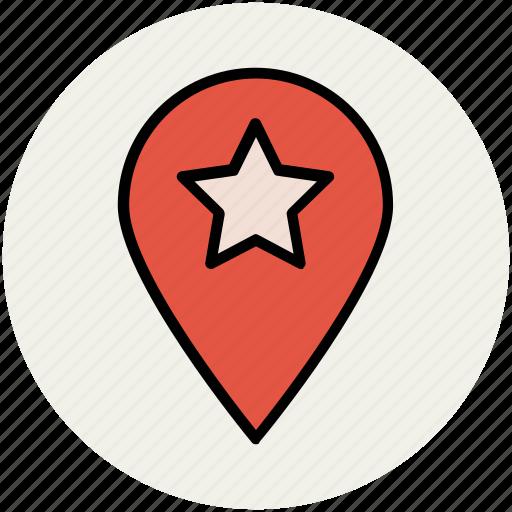 favorite location, favorite place, location marker, location pin, location pointer icon