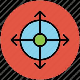 arrows key, four direction arrow, fourth way arrows, maximize, minimize icon