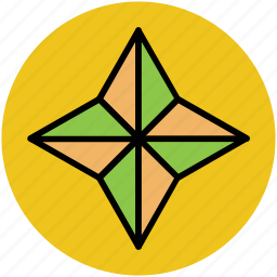 cardinal points, compass, compass rose, gps, navigation, rose of winds, wind rose icon