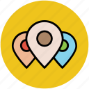 gps, location markers, location pins, location pointers, map pins, navigation icon
