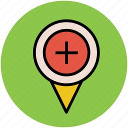 add location, gps, map pointer, navigator, zoom in, zoom map icon