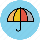 parasol, rain protection, sun protection, sunshade, umbrella icon