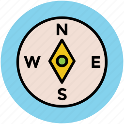 cartography compass, compass, direction, navigation icon