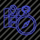 compass, destination, direction, gps, location, map, navigation, pin, place, position, shop icon