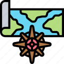 compass, map, geography, navigate, discovery
