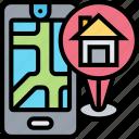 gps, home, address, navigation, map