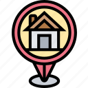 home, position, address, location, destination