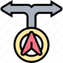 turn, arrow, direction, navigation, guide
