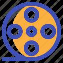cinema, film, movie, multimedia, player icon