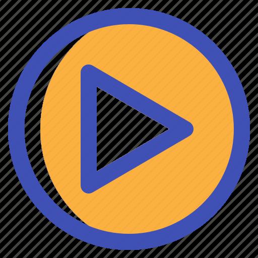 interface, movie, multimedia, play, ui icon