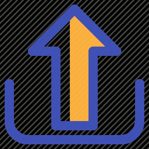 arrow, multimedia, sent, ui, up, upload icon