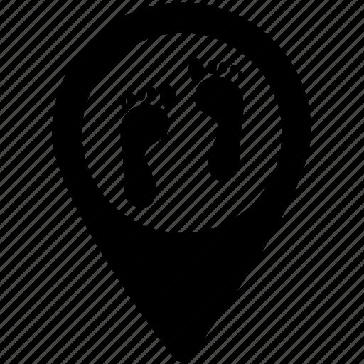 foot prints, foot sign, foot steps, human foot prints, human foot steps, map pointer icon
