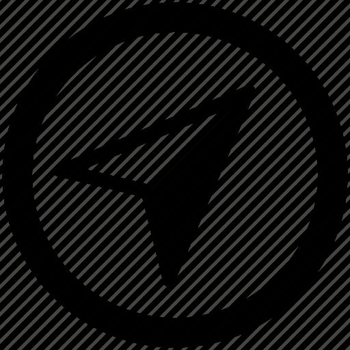 arrow, circular cursor, cursor, location arrow, mouse pointer, pointer, right up icon