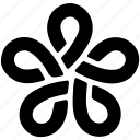line design loop, flower, curves, flower shape, creative
