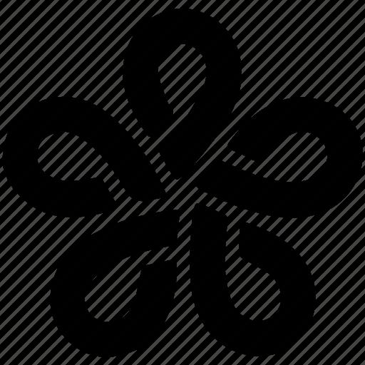 creative, curves, flower, flower shape, line design loop icon
