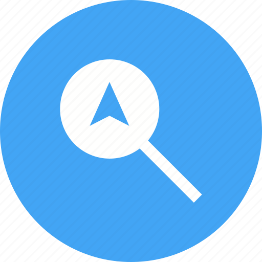 city, direction, find, logo, magnifier, search icon