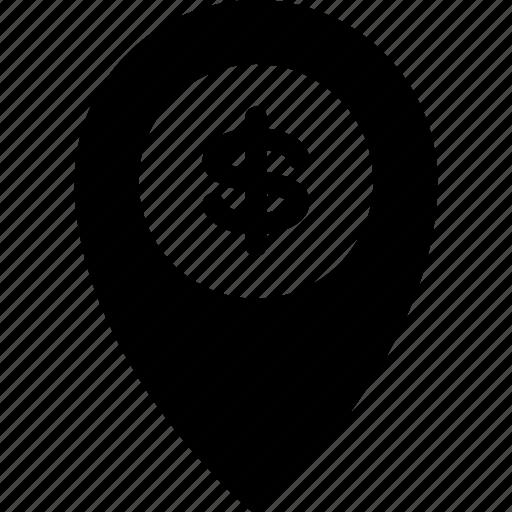 bank, local, location, map, navigation icon