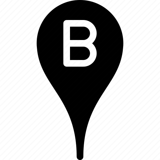 b, direction, location, map, navigation icon
