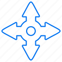 arrows, directions, down, left, right, up icon