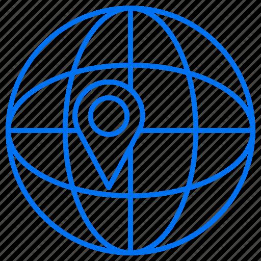 global, globe, navigation icon