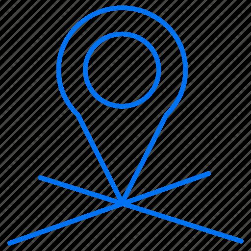 destinaation, location, navigation icon