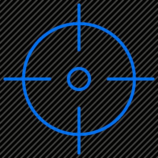 focus, focused, target, targeted icon