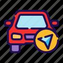 car navigation, destination, direction, gps, location, map, navigation icon