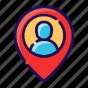destination, gps, location, map, navigation, pin, user location icon