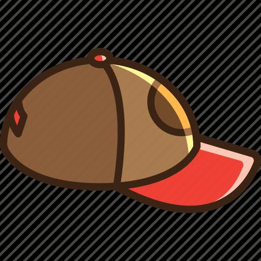 ball, baseball, cap, clothes, hat, head icon