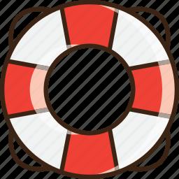 aid, help, lifebuoy, lifeline, lifesaver, summer, support icon