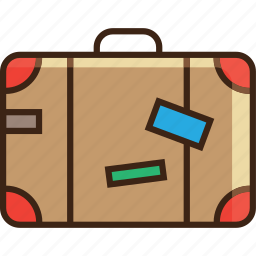 bag, baggage, clothes, luggage, move, suitcase, travel icon