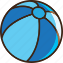ball, beach, game, kids, sand, summer, sun icon