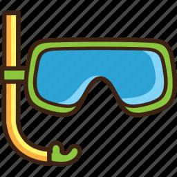 diver, diving, glasses, scuba, summer, travel icon