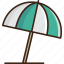 beach, guardar, protection, rain, save, summer, umbrella, weather icon
