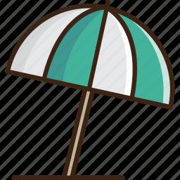 beach, guardar, protection, rain, save, summer, umbrella, weather icon