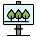 board, easter, sign icon