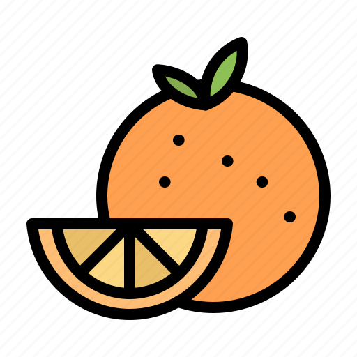 food, fruit, gras, mardi, orange icon