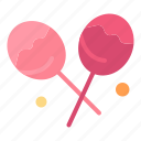 candy, confectionery, heart, lollipop icon