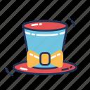 magician, hat, festival, party, holiday, mardi gras, celebration icon