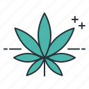 indica, leaf, marijuana, weed icon