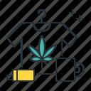 cannabis, ganja, marijuana, merch, merchandise, mug, shirt icon